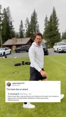 Brady poked a little fun at his former teammates  (via ...