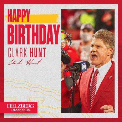 Join us in wishing Clark Hunt a happy birthday!...