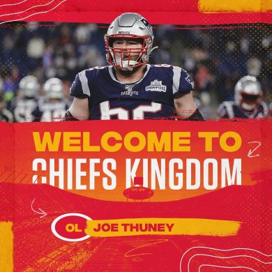 We'd like to officially welcome OL Joe Thuney to ...