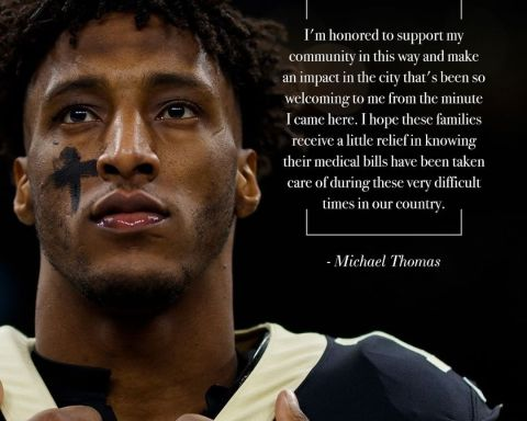 WR Michael Thomas donates to nonprofit to help relieve $2.3M in medical debt fo...