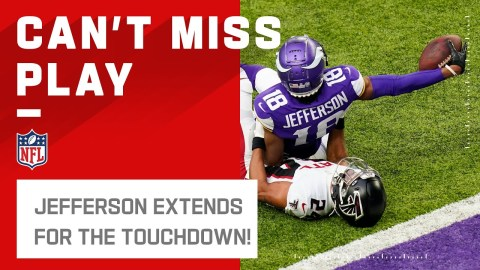 Justin Jefferson Extends Over the Goal Line!