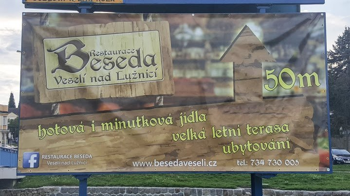 Billboard restaurace Beseda