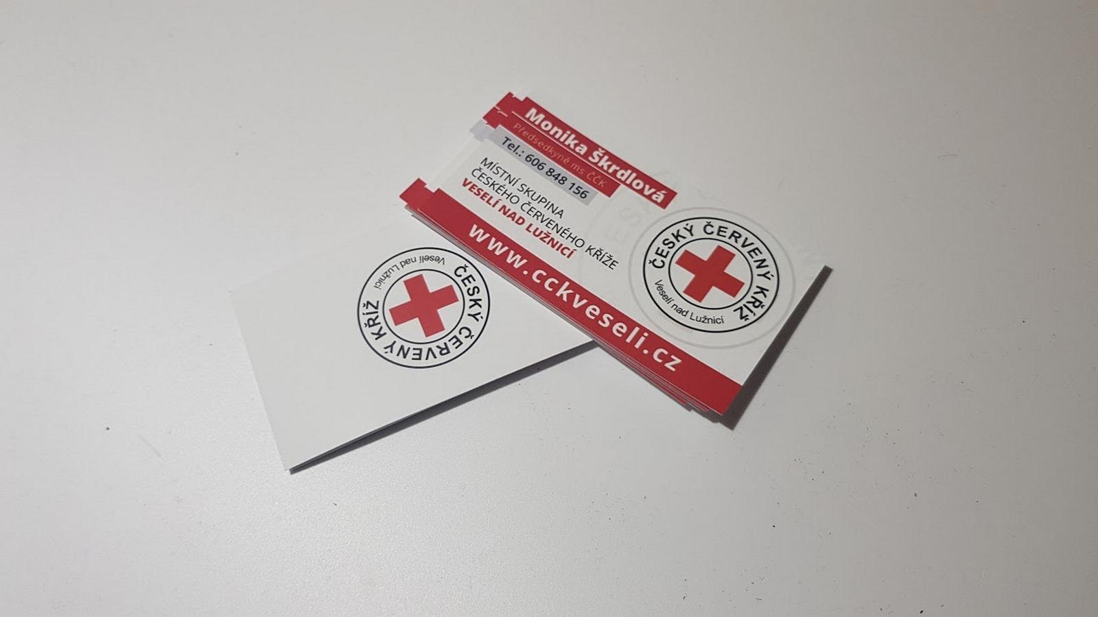 Oboustranná vizitka český červený kříž