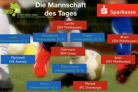 Fußball-Westfalen-, Landes-und Bezirksliga: Mannschaft des Tages