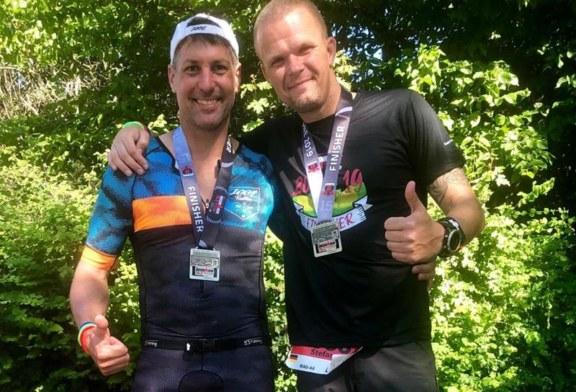 TVG-Duo meistert Mitteldistanz-Debüt im Kraichgau