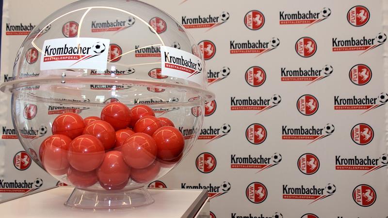 Auslosung zum Krombacher Westfalenpokal 2019/20 am 8. Juli