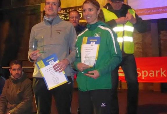 Dorothee Arendsee und Lukas Meier siegen beim 5. Lauf am Turm der Lauffreunde Bönen