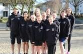 Damenmannschaft der Wasserfreunde TuRa Bergkamen mit vielen Bestzeiten in der Südwesfalenliga