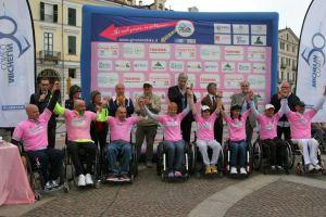 Le maglie rosa del Giro d'Italia Handbike dopo la tappa di Cuneo