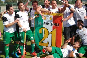L'Amsicora festeggia il successo nel campionato hockey prato A1 2012/13