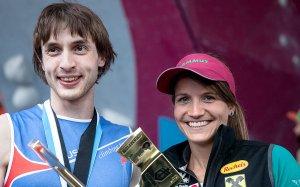 Dimitrii Sharafutdinov e Anna Stohr dopo il successo di Vail