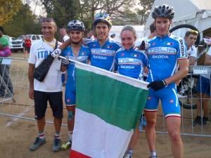 Il quartetto che si è laureato campione del mondo team relay 2013