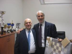 Il presidente del CONI Malagò insieme al presidente FSI Pagnoncelli