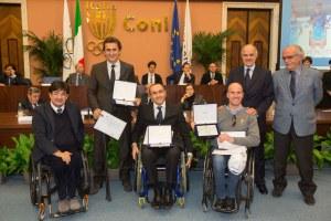 Ciclismo, Giro d'Onore 2013, Pancalli, Di Rocco, Paraciclismo