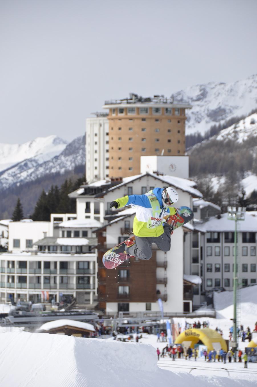 Braulio Vertical Tour, Slopestyle, Snowboard