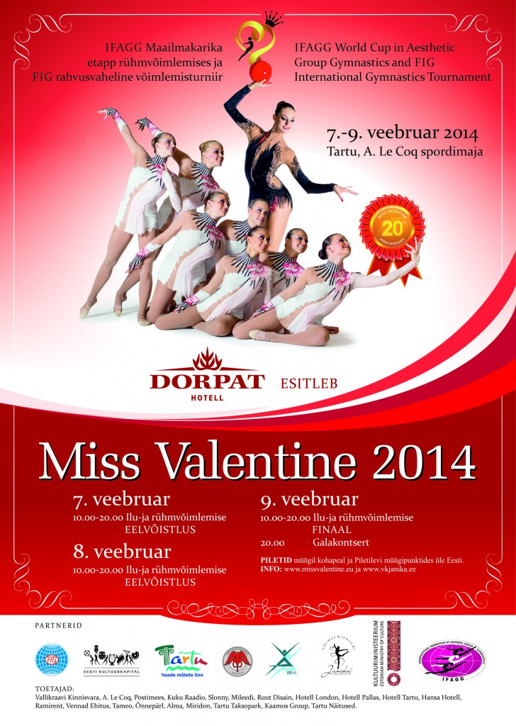 Ginnastica ritmica: Miss Valentine 2014, eleganza in pedana