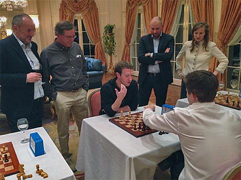 Zuckerberg, Carlsen, Scacchi