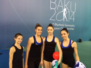 Le juniores agli Europei di Ritmica a Baku