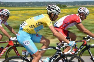 Vincenzo Nibali in azione nella 13° tappa del Tour 2014