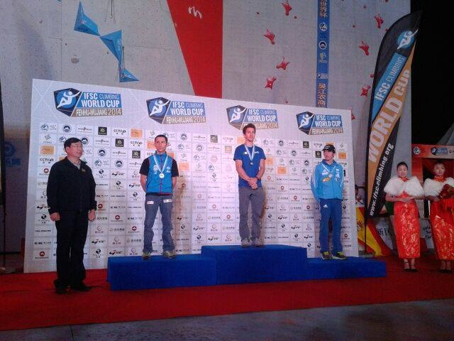 Coppa del Mondo Lead, Stefano Ghisolfi, Ghisolfi podio Wujiang