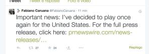 Fabiano Caruana, Scacchi USA