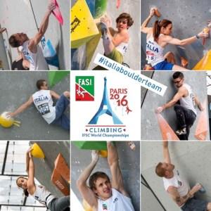 Mondiali arrampicata parigi, boulder, azzurri