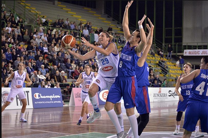 Eurobasket Women 2017, Italia Gran Bretagna
