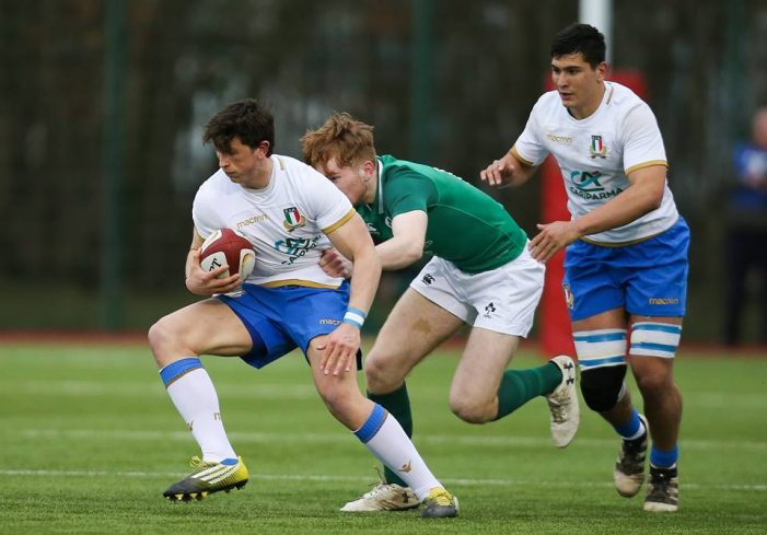 U18s Six Nation Festival, Irlanda Italia 20-17