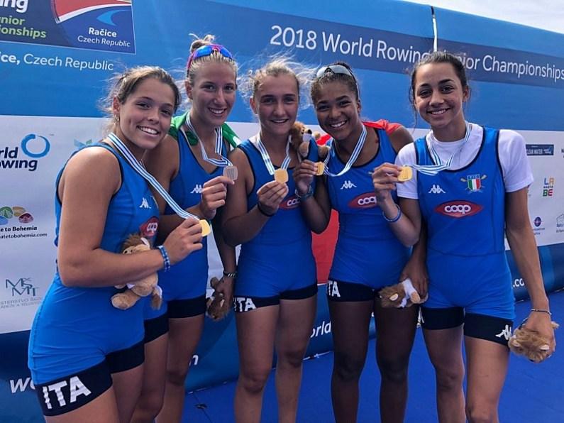 Mondiali Junior di canottaggio: da Racice 5 medaglie per l'Italremo