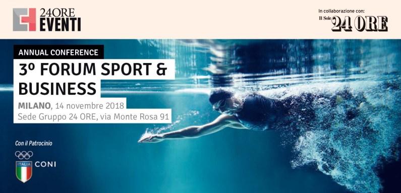 Forum Sport & Business, il 14 novembre a Milano