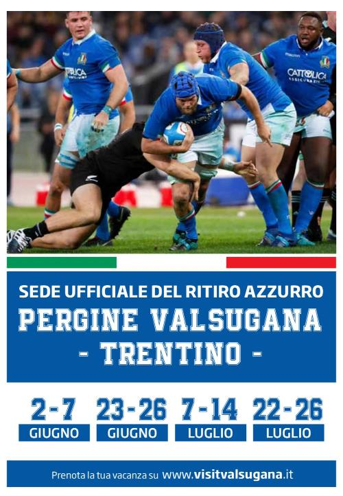 Sono 39 gli azzurri dell'Italrugby per il raduno in Trentino