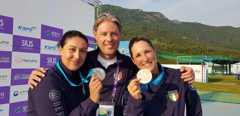 Coppa del Mondo Skeet a Changwon, Bacosi-Cainero argento e bronzo