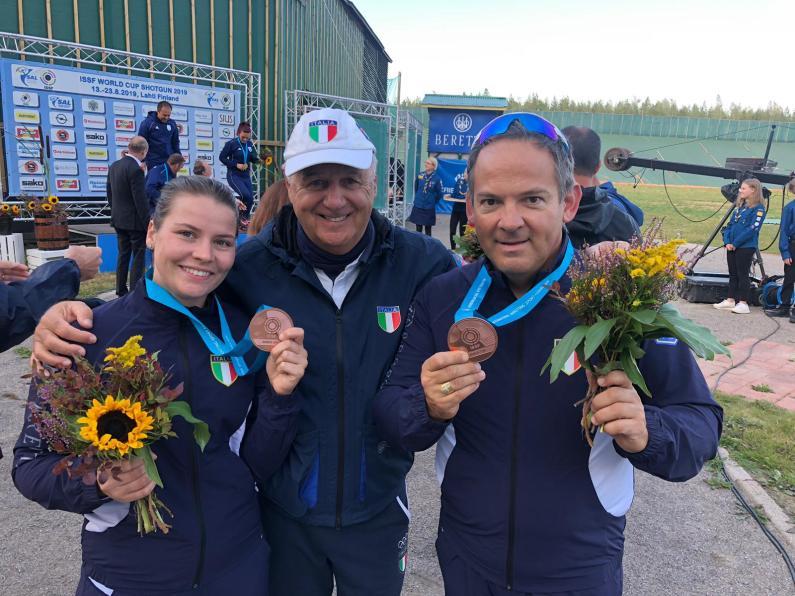 CDM Trap Mixed Team: vincono Perilli/Berti, bronzo per Stanco/Pellielo