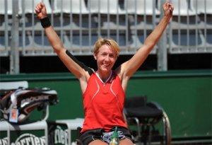 "Sabine Ellerbrock: ""Abends habe ich in Roland Garros Klausuren korrigiert"" -   Foto: DTB (http://www.dtb-tennis.de/)"