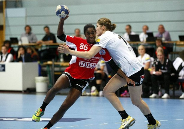 Handball: Champions-League-Hauptrunde - Thüringer HC mit Alexandrina Barbosa (86) gegen FC Midtjylland 26:24 am 08.02.2014 in Nordhausen - Foto: Mario Gentzel (pictureteam.com)