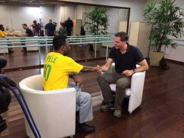 """CNN International """"World Sport"""": Interview von Frederik Pleitgen mit Pele: """"Deutschland WM-Favorit"""" - Foto: CNN International"""