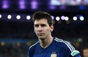 Fußball FIFA WM 2014: Lionel Messi, James Rodriguez und Manuel Neuer sind die besten WM-Fußballer - Lionel Messi of Argentina reacts after the 2014 FIFA World Cup Brazil Final match between Germany and Argentina at Maracana on July 13, 2014 in Rio de Janeiro, Brazil. (Photo by Martin Rose/Getty Images for Sony)