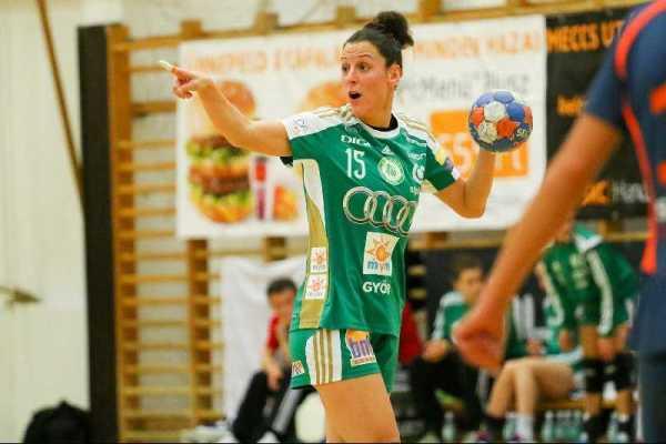 Ungarn – Pokal: Győri Audi ETO KC überzeugt bei Siofok KC - Macarena Aguilar (15) wechselt zum THC - Foto: Anikó Kovács und Tamás Csonka (Győri Audi ETO KC)