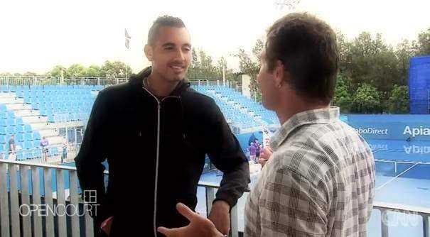 """Nick Kyrgios im Gespräch mit Pat Cash - Foto: CNN International """"Open Court"""""""