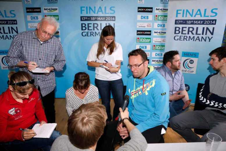 EHF-Cup Final4 in Berlin 2015 - EHF Cup Finals media call mit Dagur Sigurdsson - Berlin 16 May 2014 - Foto: EHF Media (Pillaud)