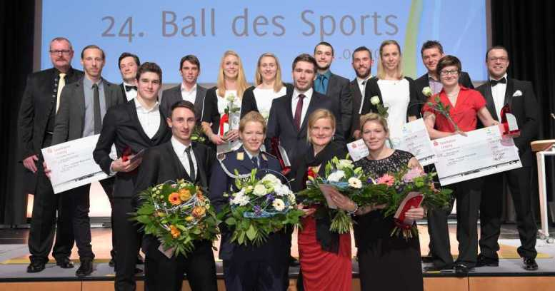 "Leipzigs ""Sportler des Jahres 2014"": Annekatrin Thiele, Martin Schulz, SC DHfK Leipzig - Foto: Stadtsportbund Leipzig e.V."