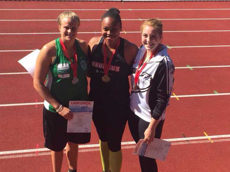 DHfK-Leichtathleten mit drei Medaillen bei U23 DM - Sara Gambetta (li.), Shanice Craft (mi.) und Alina Kenzel (re.) – Foto: Sara Gambetta
