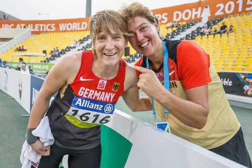 Leichtathletik-WM: Franziska Liebhardt und Steffi Nerius - Foto: Marcus Hartmann, www.photo-hartmann.de