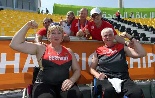 Leichtathletik-WM: Marie Hawkeswood und Marianne Buggenhagen - Foto: Marcus Hartmann, www.photo-hartmann.de