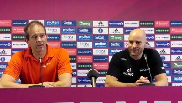 Handball WM 2015 Dänemark: Henk Groener und Kim Rasmussen - Foto: SPORT4Final