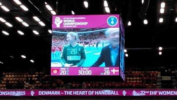 Handball WM 2015 Dänemark: Rikke Poulsen und Dänemark im Rausch gegen Montenegro - Foto: SPORT4Final