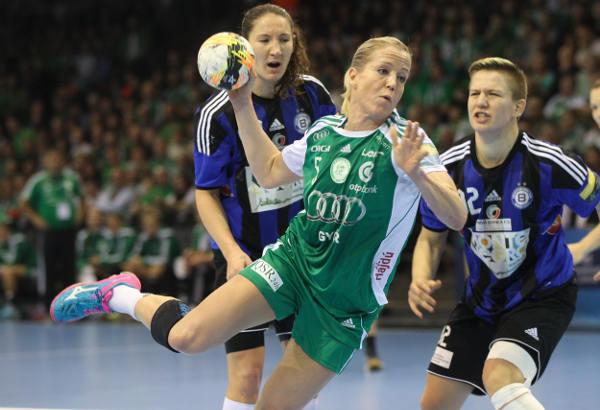 Handball EHF Champions League: Győri Audi ETO KC besiegte Buducnost Podgorica - Heidi Löke - Foto: Anikó Kovács und Tamás Csonka (Győri Audi ETO KC)