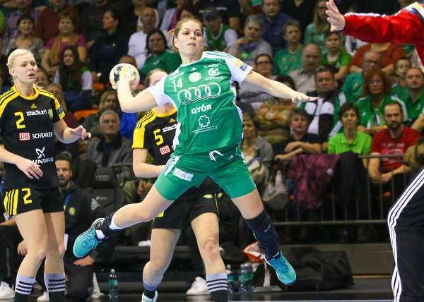 Handball Champions League: Győri Audi ETO KC bezwang Sävehof - Anikó Kovács - Foto: Anikó Kovács und Tamás Csonka (Győri Audi ETO KC)