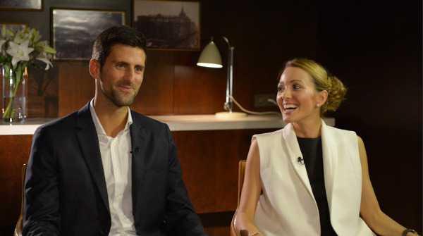 """CNN Open Court mit Novak und Jelena Djokovic - Foto: CNN International """"Open Court"""""""