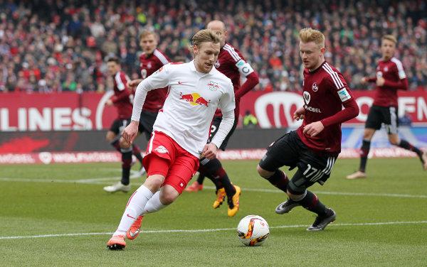 Deutsche Bundesliga, 1. FC Nuernberg vs. RasenBallsport Leipzig - Emil Forsberg (RB Leipzig) - Foto: GEPA pictures/Roger Petzsche